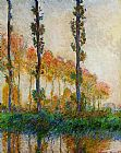 Autumn Canvas Paintings - Three Trees in Autumn