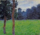 Claude Monet Two Trees in a Meadow painting