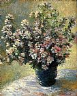 flowers Canvas Paintings - Vase Of Flowers