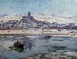 Winter Canvas Paintings - Vetheuil in Winter