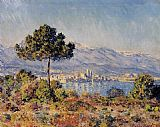 View Canvas Paintings - View of Antibes from the Notre-Dame