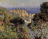 View Canvas Paintings - View of Bordighera