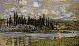 Claude Monet View of Vetheuil painting