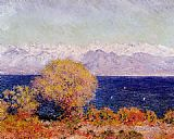 View Canvas Paintings - View of the Bay and Maritime Alps at Antibes