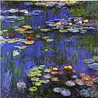 Famous Lilies Paintings - Water-Lilies 1914