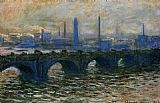Morning Canvas Paintings - Waterloo Bridge Misty Morning