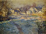 Claude Monet White Frost painting