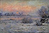 Winter Canvas Paintings - Winter Sun Lavacourt