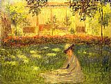 Claude Monet Woman Sitting in a Garden painting