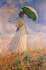 Claude Monet Woman with a Paraso Facing Right painting
