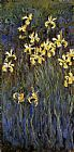 Yellow Canvas Paintings - Yellow Irises 2