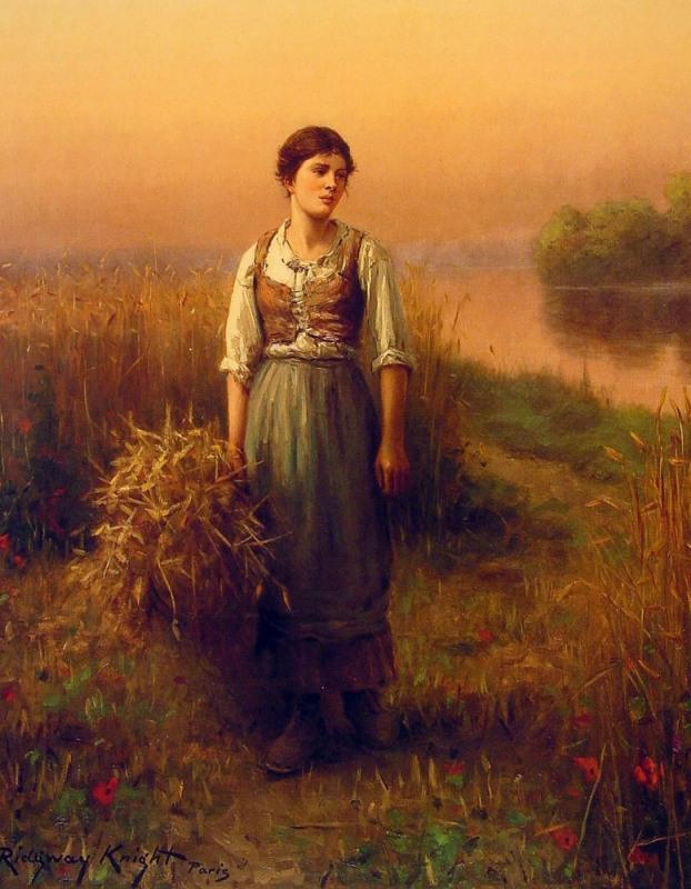 Daniel Ridgway Knight Normandy Maid