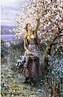 los Canvas Paintings - Gathering Apple Blossoms
