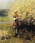 Daniel Ridgway Knight Spring Blossoms painting