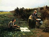 Daniel Ridgway Knight The Honeymoon Breakfast painting