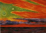 Diego Rivera Atardecer en Acapulco painting