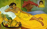 Diego Rivera Portrait of Sra. Dona Elena Flores de Carrillo painting