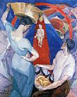 Diego Rivera Wall Art - The Adoration of the Virgin