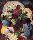 Diego Rivera The Flower Vendor painting