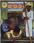 Diego Rivera The Flowered Canoe painting