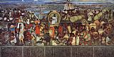 City Canvas Paintings - The Great City of Tenochtitlan