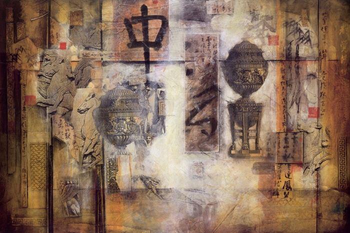 Don Li-Leger - Don Li-Leger East Meets West II Painting