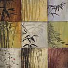 Don Li-leger Canvas Paintings - Bamboo Nine Patch II