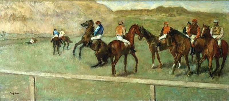 Edgar Degas Before the Start I
