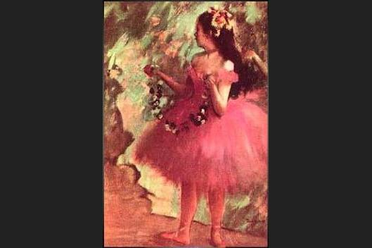 Edgar Degas Dancer in a Rose Dress