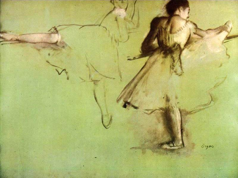 Edgar Degas Dancers at the Barre