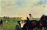 Edgar Degas Canvas Paintings - A Carriage at the Races