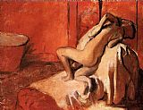 Edgar Degas After the Bath XI painting