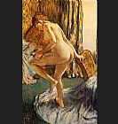 Edgar Degas After the Bath painting