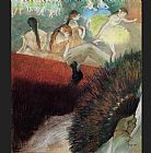 Edgar Degas Canvas Paintings - At the Ballet