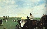 Country Canvas Paintings - At the Races in the Country