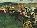 Edgar Degas At the Races painting