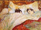 Edgar Degas Wall Art - In Bed