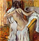 Edgar Degas Wall Art - Woman Drying Herself I