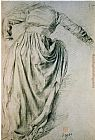Edgar Degas study of a draped woman painting