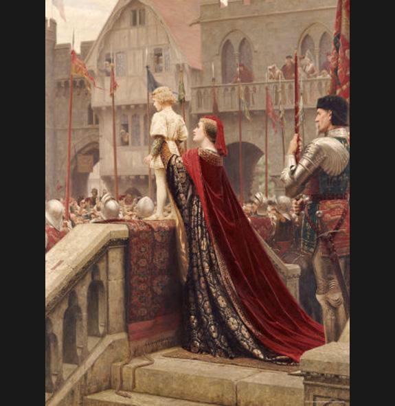 Edmund Blair Leighton A Little Prince Likely in Time to Bless a Royal Throne
