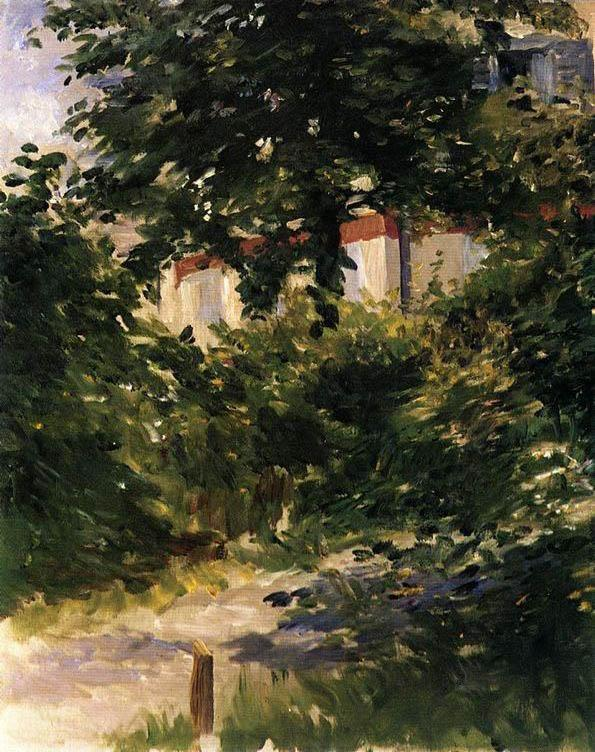 Edouard Manet A Path in the Garden at Rueil