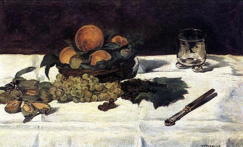 Edouard Manet Fruit on a Table