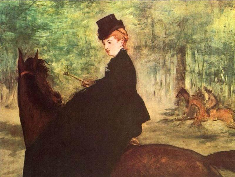 Edouard Manet The Horsewoman