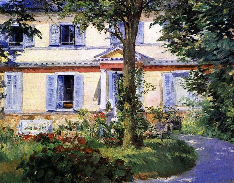 Edouard Manet The House at Rueil 2