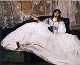 Edouard Manet Baudelaire's Mistress, Reclining painting