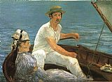 Edouard Manet Canvas Paintings - Boating