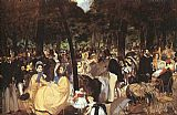 Edouard Manet Concert in the Tuileries painting