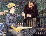 Edouard Manet In the Conservatory painting