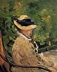 Edouard Manet Madame Manet at Bellevue painting