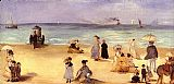Edouard Manet On the Beach at Boulogne painting